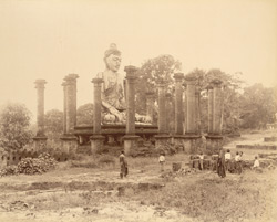 Gigantic statue of Buddha at Wingaba, Rangoon